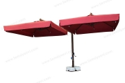 Öne Açılır T Direkli Çift Açılır Büyük Lokanta Şemsiyesi
