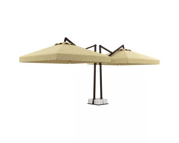 Öne Çift Açılır Plus Bahçe Şemsiyesi